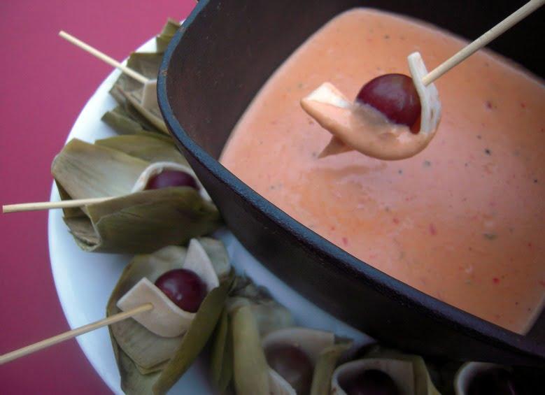 A hot cheesy dip recipe for Pepper Jack Fondue
