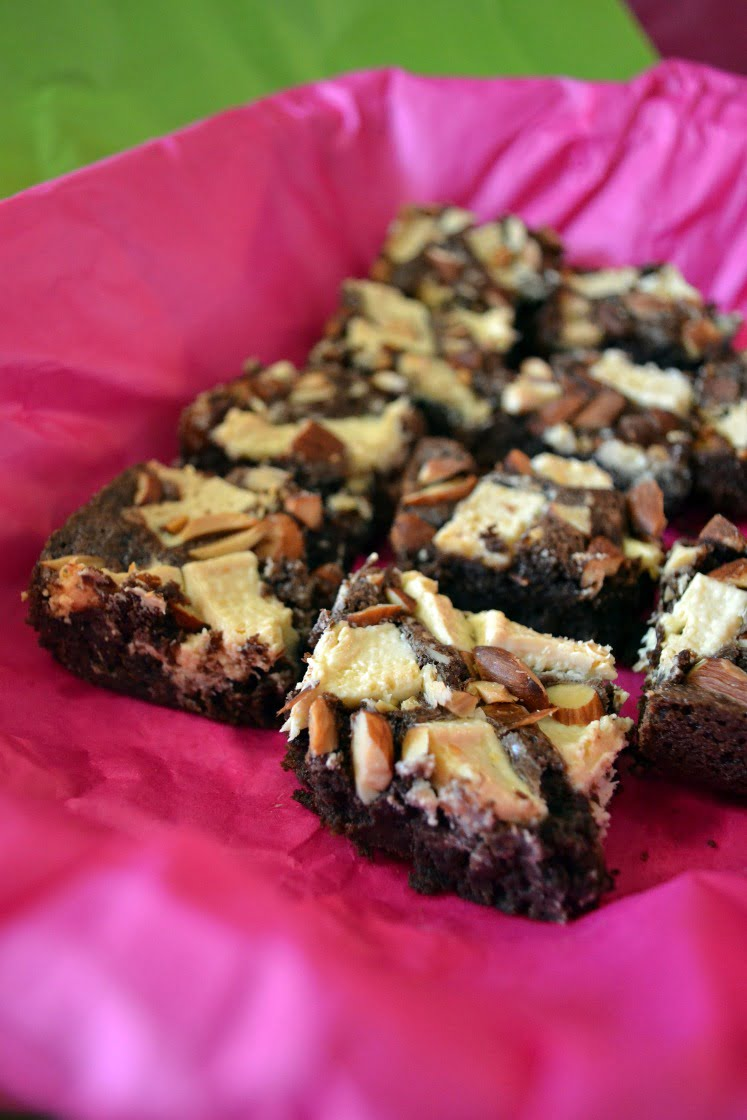 cocoa brownies made from scratch are a special way to let the birthday boy or girl