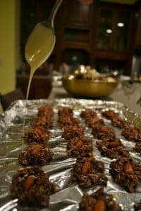 Quick and Easy Christmas Cookies: Chocolate Almond Haystacks