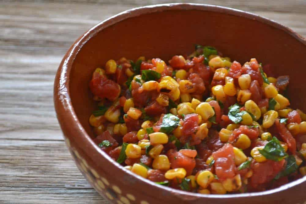 Quick Dinner Recipe For Homemade Roasted Corn Salsa And Tostadas