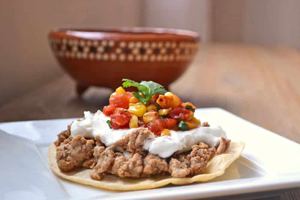Simple Recipes and Tips for Prepping Dinner on Busy Nights - from COOKtheSTORY.com - Chicken Tostadas with Corn Salsa