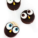 Cute and Easy Halloween Treats: Owl Moon Pie Pops from Angie of eclecticrecipes.com