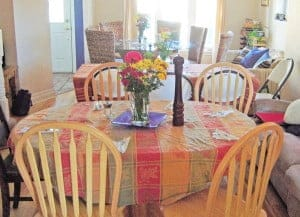 Our Thanksgiving tables when we lived in Toronto: Set and ready for the guests to arrive. What to serve vegetarians for Thanksgiving?