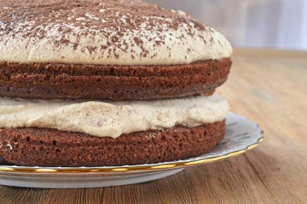 An easy holiday dessert recipe: Irish Whiskey Cake adapted from Fine Cooking Magazine