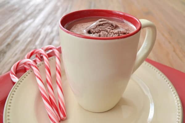 Easy peppermint hot chocolate float recipe peppermint hot chocolate recipe easy flavored hot chocolate ccuart Image collections