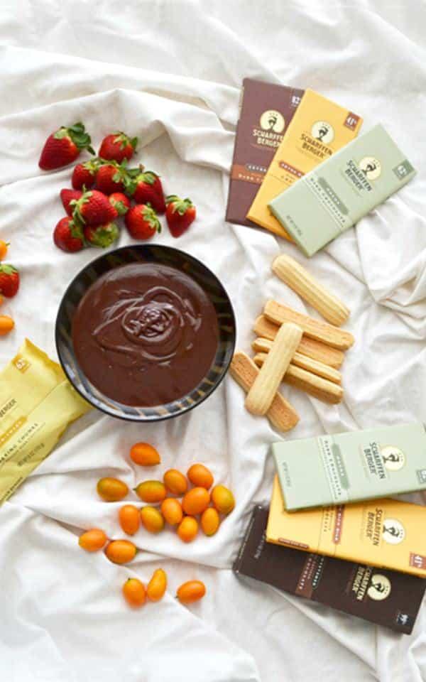 Cardamom-Orange Chocolate Fondue - Get the recipe for this romantic dessert on COOKtheSTORY.com