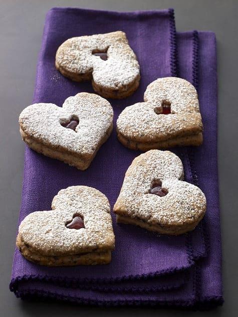 Linzer Heart Cookies Recipe & Baking For Friends Cookbook Giveaway