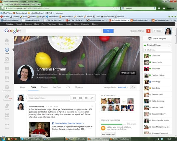 Christine Pittman's Profile Page on Google+. Why You Should Be on Google Plus: For me, it's about connections and about improving the search ranking of my blog posts and recipes