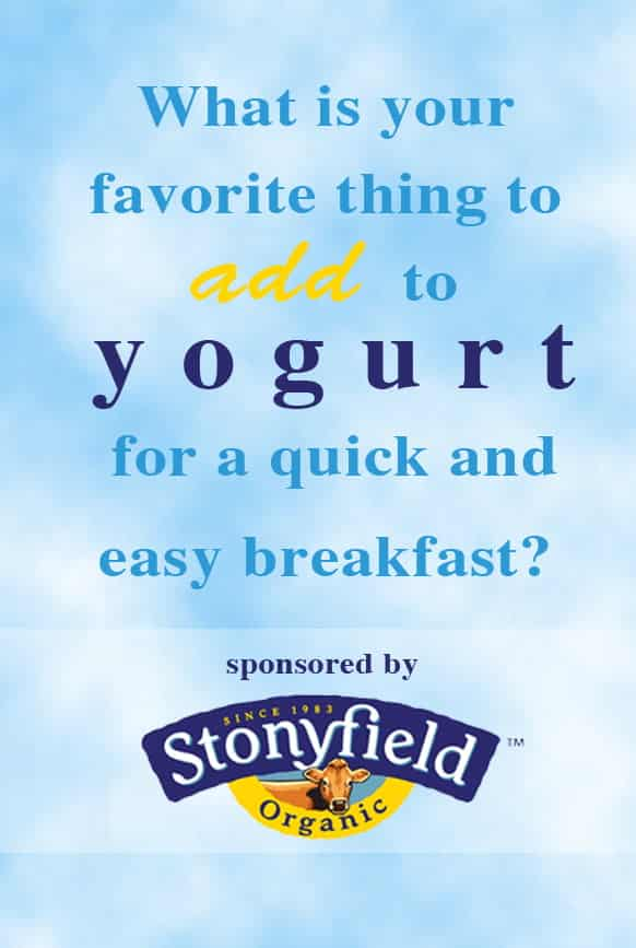 Q#7: What do you add to yogurt for a quick and easy breakfast? Answer the question in the comment section of this pin on the Cook! PinChatLive Pinterest Board for you chance to win. 1 answer per question per person please. http://pinterest.com/cookthestory/cook-pinchatlive/