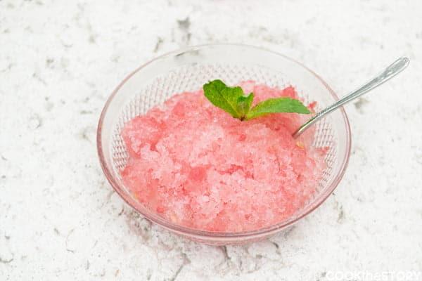 Watermelon-Wine Granita Dessert Recipe