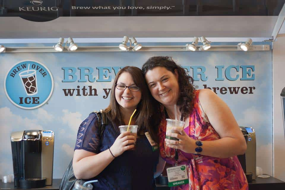 Sam of www.sweet-remedy.com and I at the Keurig Booth during BlogHer Food 2013 in Austin, Texas