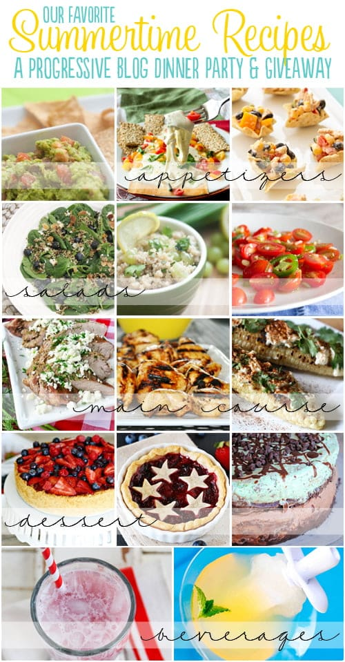 A Summer Progressive Dinner Party: 14 delicious summer recipes and an amazing giveaway from World Market, KitchenAid and Woot Froot.