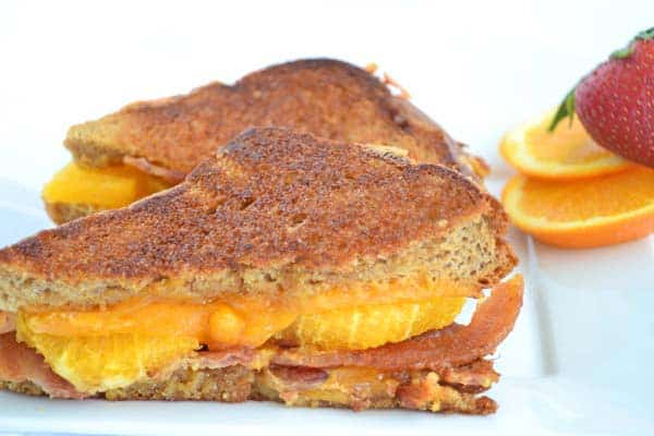 Breakfast Grilled Cheese with a Crunchy Maple Crust