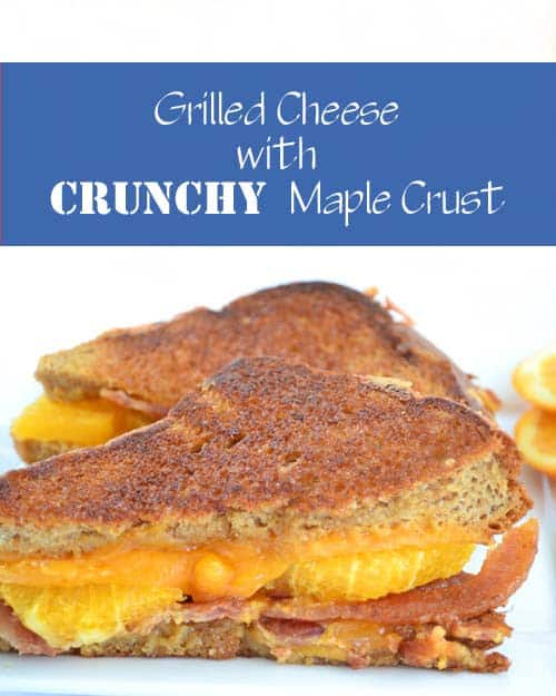 Breakfast Grilled Cheese with Crunchy Maple Crust by www.cookthestory.com