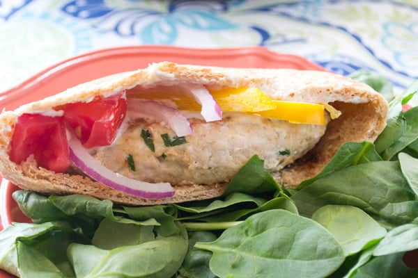 Cumin, Coriander and Fennel SPiced Turkey Burger Patties in Pita by www.cookthestory.com
