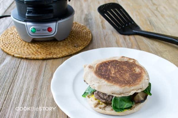 An Easy Burger Recipe Made On A Breakfast Sandwich Maker