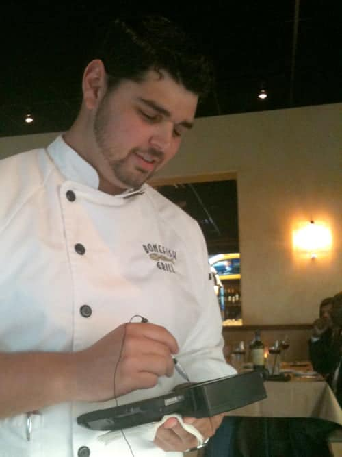 Our server at Bonefish Grill Waterford Lakes, Orlando