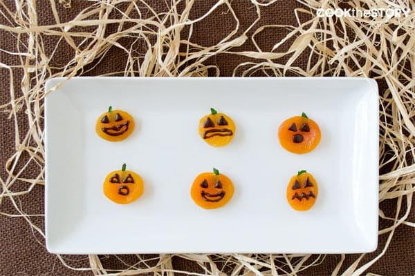 Healthy Halloween Treats: Apricot Jack-o'-Lanterns