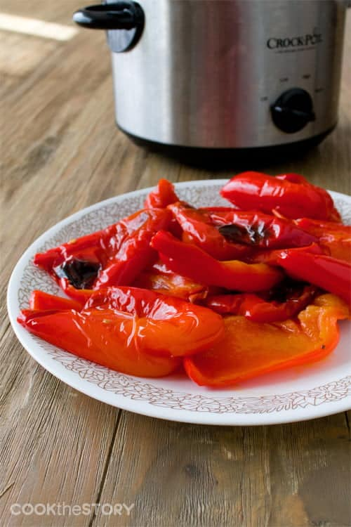 How to make roasted peppers in a slow cooker or Crock Pot.