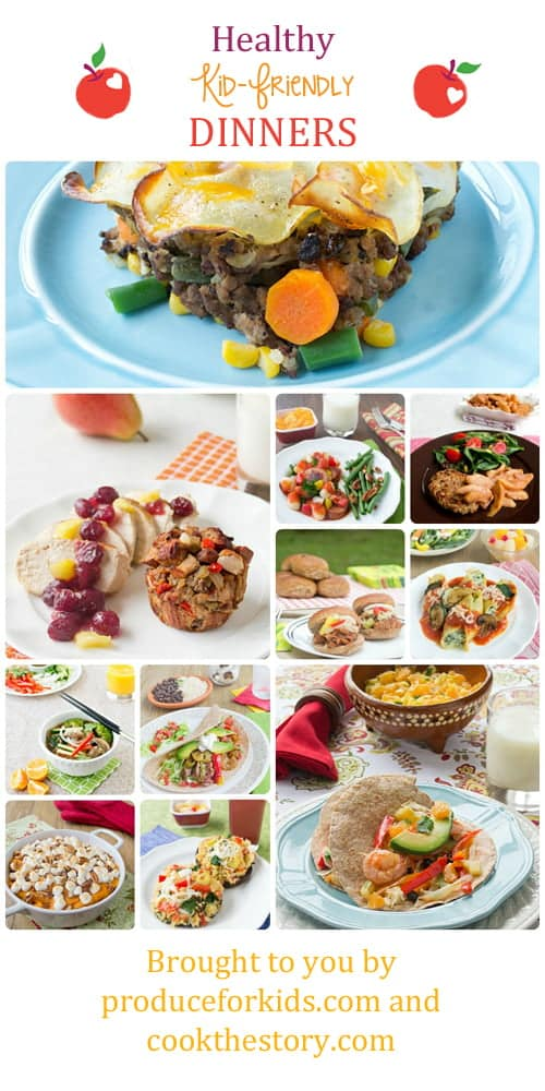 Healthy Kid-Friendly Dinner Recipes made by COOKtheSTORY on @produceforkids