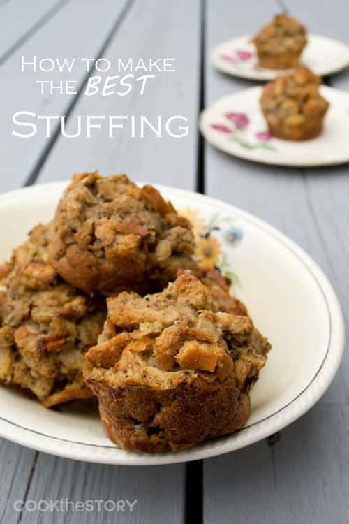 Welcome to my best stuffing recipe and tutorial. Stuffing is one of those essential holiday dishes and my mom's is the best. That's why I watched her make a batch and asked her to tell me her secrets. Once you know the steps to make my mom's basic stuffing recipe, you can switch it up with different ingredients and flavorings.