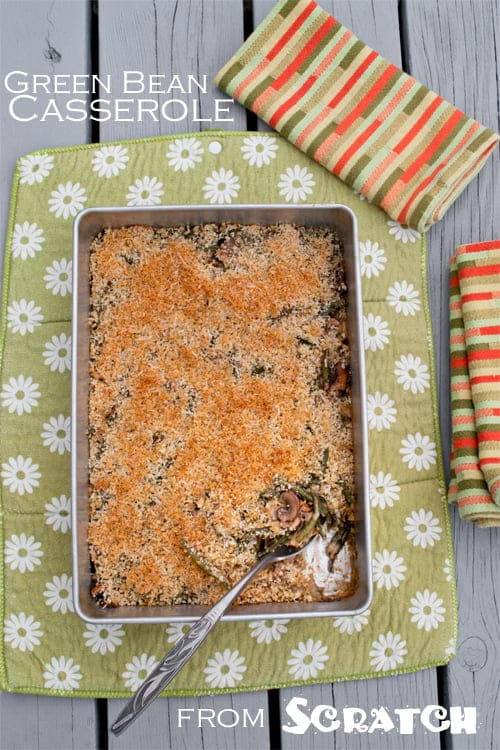Forget all about those cans and boxes and learn how to make Green Bean Casserole from scratch! It's easy and simple to do.