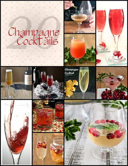 20 Champagne Cocktails, How to set up a Champagne Cocktail Bar and more.