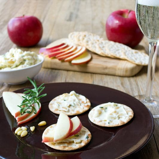 Pair RubyFrost Apples with Rosemary Pine Nut Butter