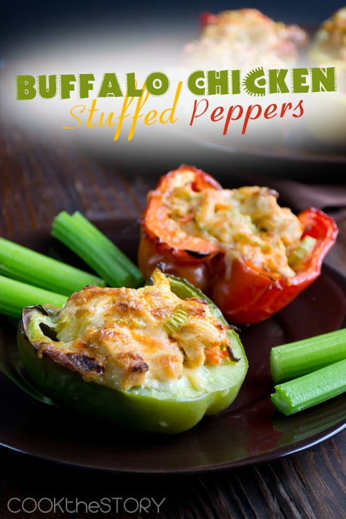 Stuffed Peppers with a Buffalo Chicken Filling