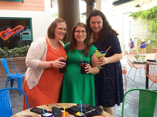 Kristin from Yellow Bliss Road and Katie from Katie's Cucina with me at Antojitos Authentic Mexican Food at Universal Orlando's City Walk Media Preview Event
