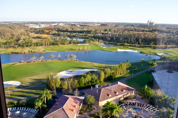 The fabulous view from our hotel room at Rosen Shingle Creek in Orlando