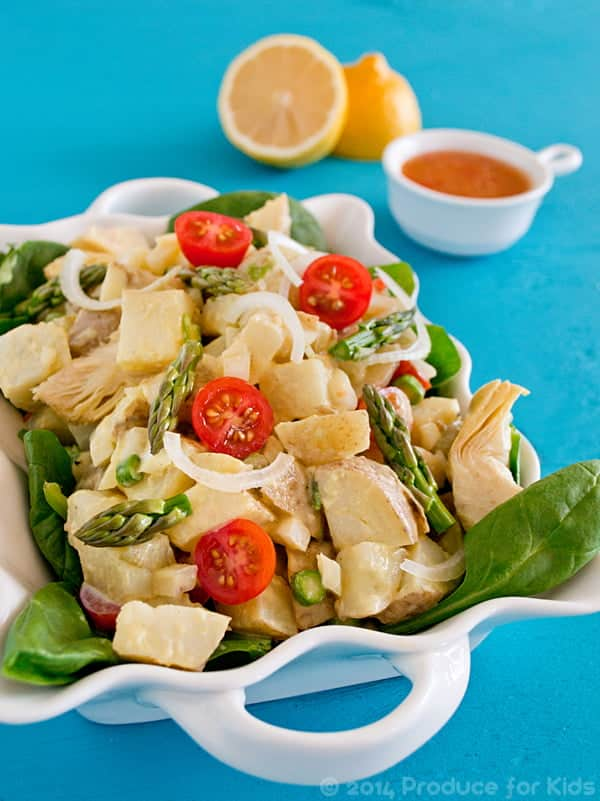 Healthy Potato Salad Made with Greek Yogurt and Veggies