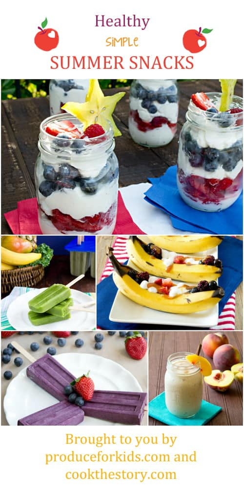 Healthy Summer Snack Ideas for Kids - get the recipes on COOKtheSTORY.com