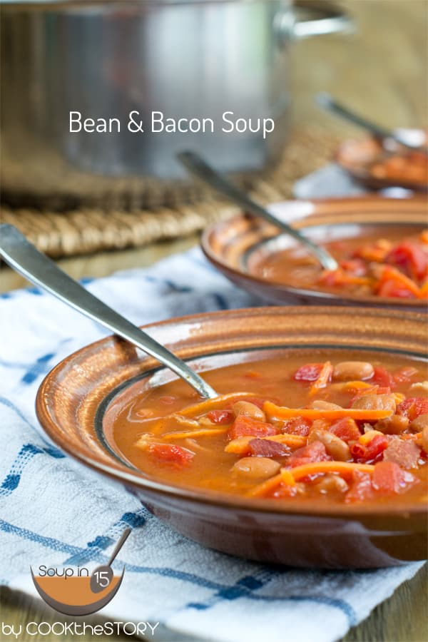 Bean and Bacon Soup in 15 Minutes