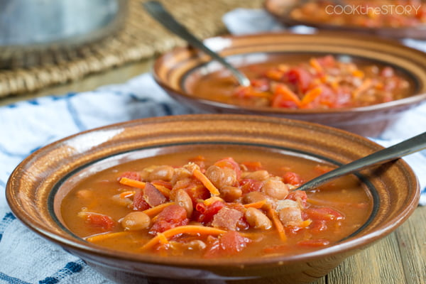 Hearty Bean Soup with Garlic Manchego Toast