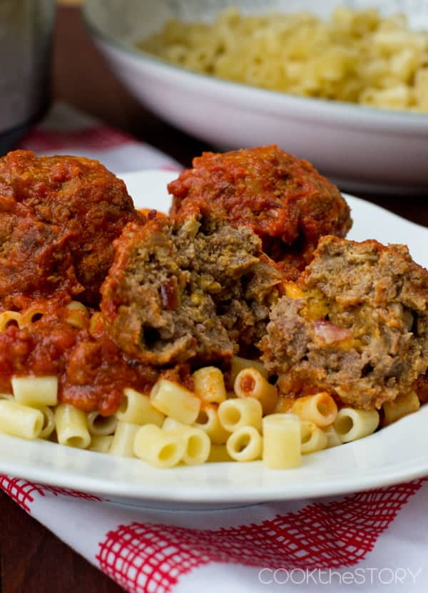 Bacon Cheeseburger Slow Cooker Meatballs