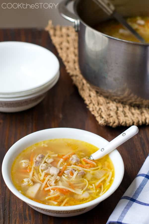 Quick Chicken Noodle Soup in 15