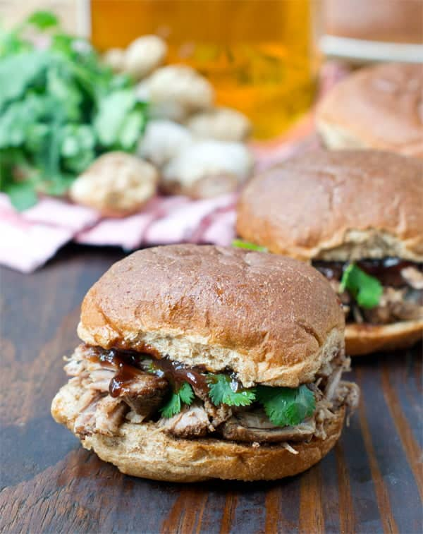 Slow Cooker Island Jerk Pulled Pork Sandwiches