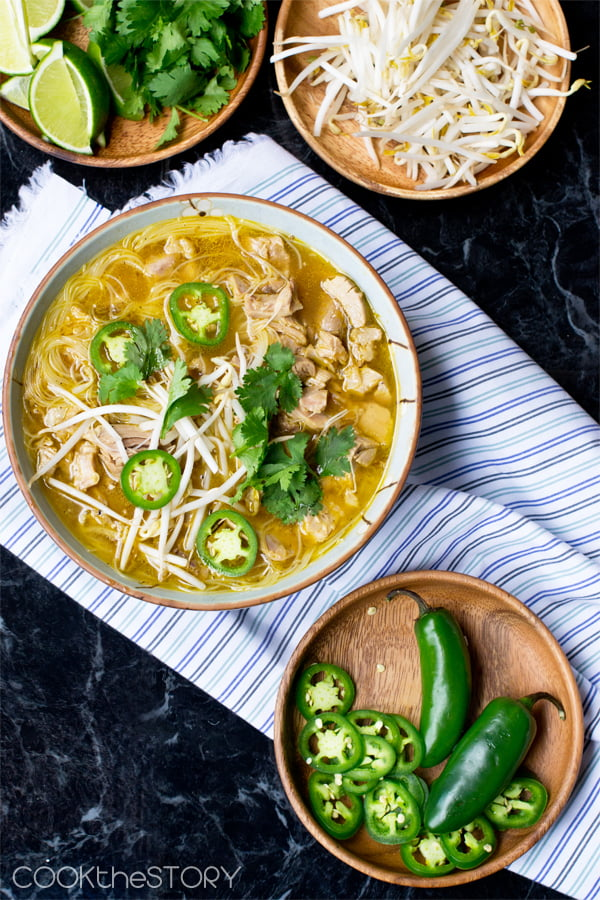 Vietnamese Noodle Soup made with Leftover Turkey