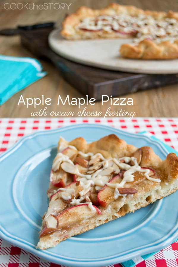 Apple Maple Pizza with Cream Cheese Frosting