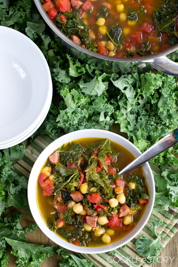 Kale Soup with Kielbasa