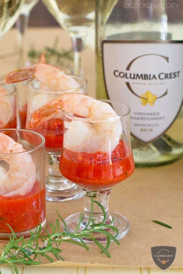 Butter-Poached Shrimp Cocktail with Roasted Pepper Cocktail Sauce