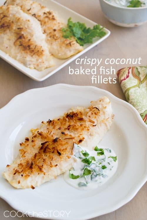 coconut baked fish portrait