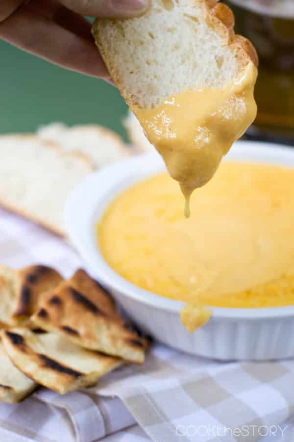 Hot Beer Cheese Dip recipe - from COOKtheSTORY.com