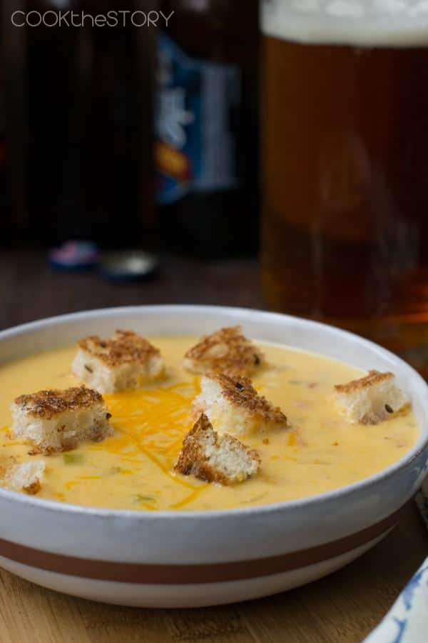 Beer Cheese Soup Recipe from COOKtheSTORY.com