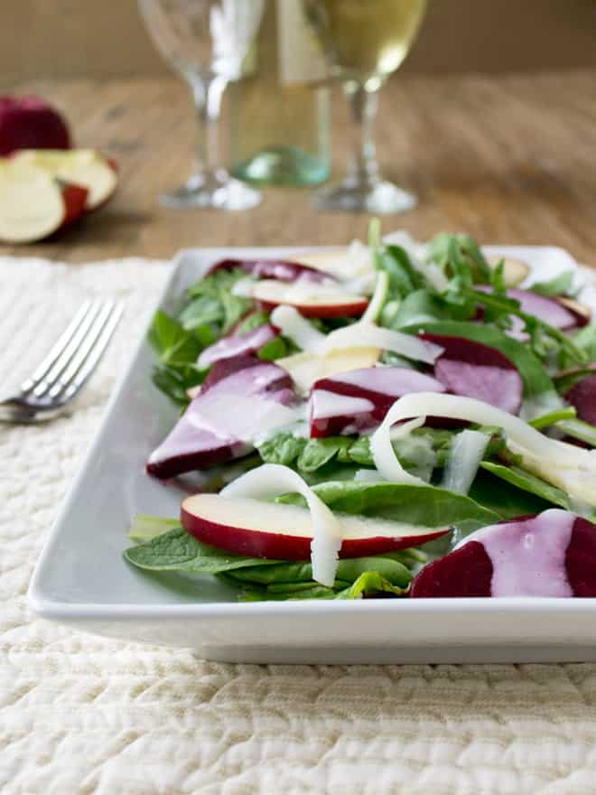 Beet and Kale Salad with Creamy Dressing