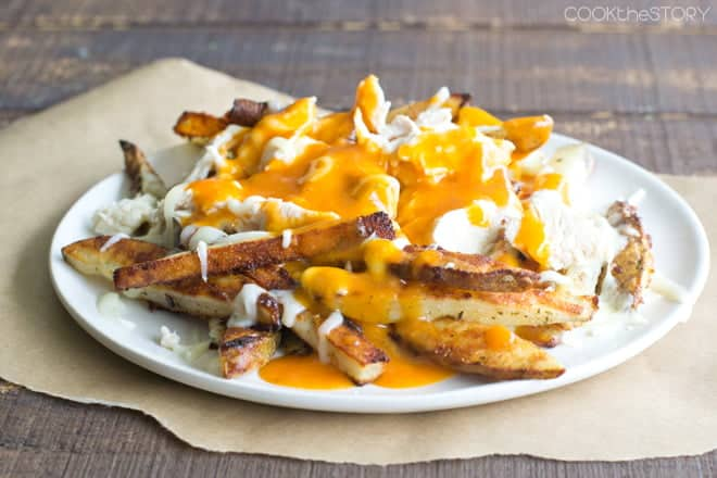 Poutine with Wing Sauce Gravy