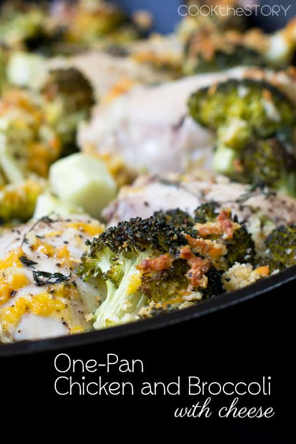 One-Pan Chicken and Broccoli with Cheese and Crunchy Breadcrumbs