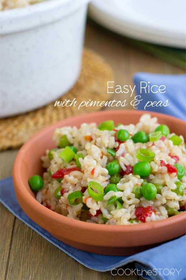 Spanish Rice with Pimientos and Peas