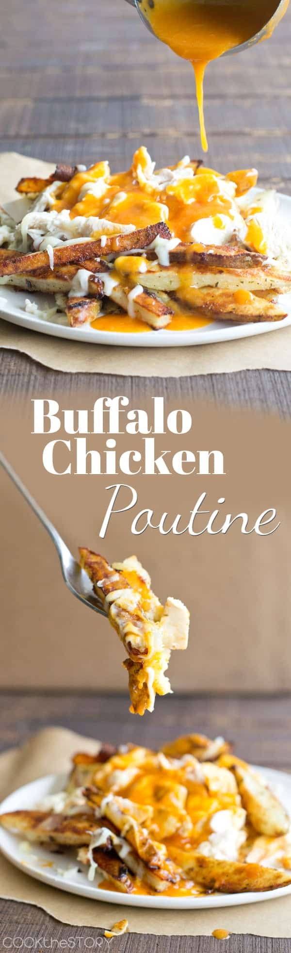 Buffalo Chicken Poutine: Ranch fries with mozzarella and a spicy wing sauce, butter and beer gravy
